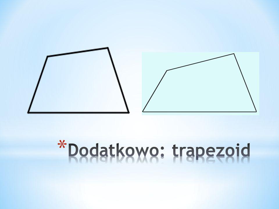 1.W trapezie równoramiennym jeden z kątów wewnętrznych ma miarę 75˚. Jakie miary mają pozostałe kąty ? 2.W trapezie prostokątnym kąt ostry ma miarę 54