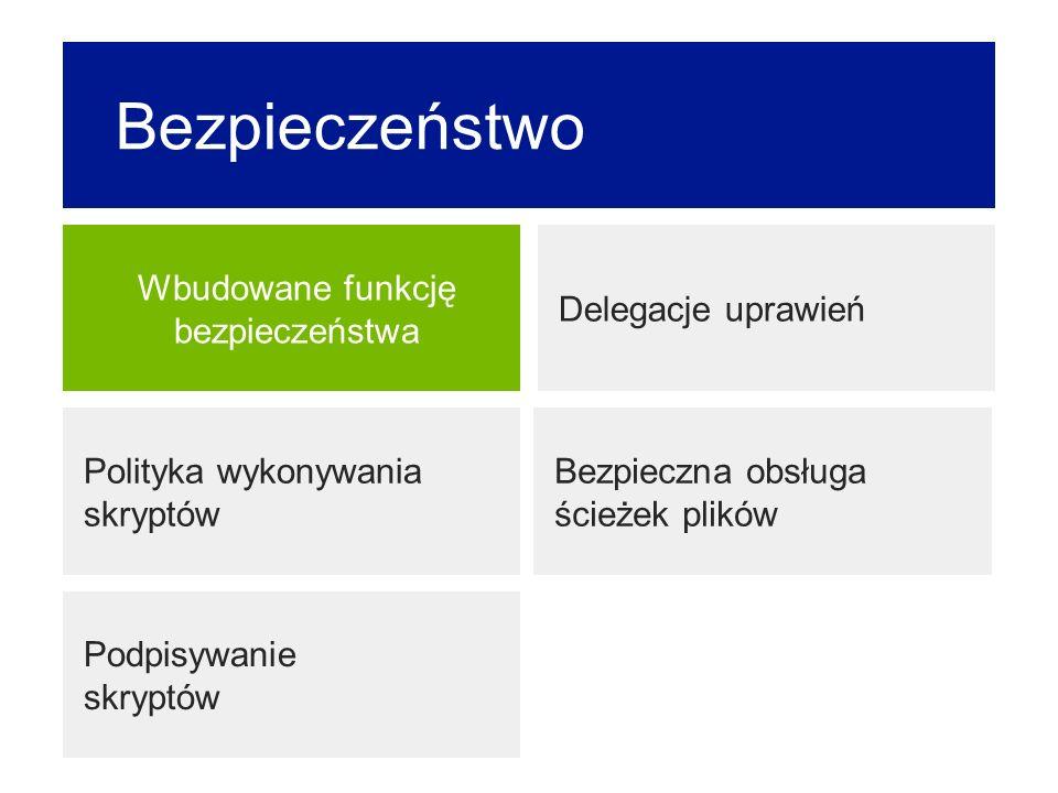 Windows PowerShell Web Access Możliwości 129 PowerShell 1.0 Harmonogram zadań Usługi zdalne Przekazywanie potokowe Get-Hotfix | Sort-Object InstalledOn –Descending | Format-List * 236 PowerShell 2.0 4000+ PowerShell 3.0 Linux Android iOS