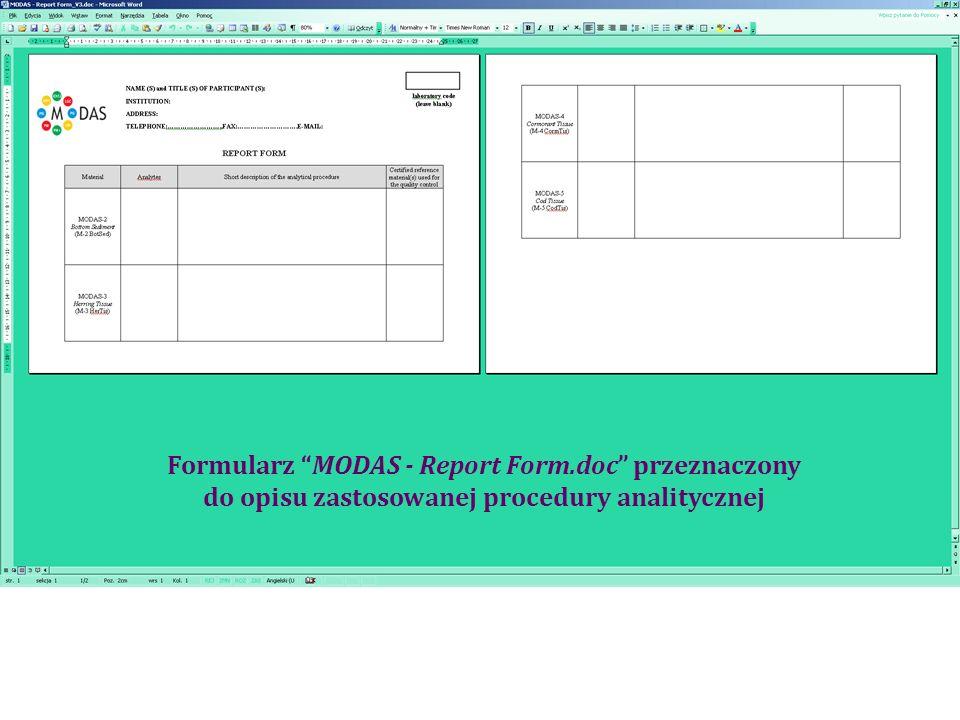 Lista laboratoriów, które zadeklarowały udział w porównaniu międzylaboratoryjnym w celu atestacji materiałów MODAS 2, MODAS 3, MODAS 4 i MODAS 5 na zawartość pierwiastków śladowych.