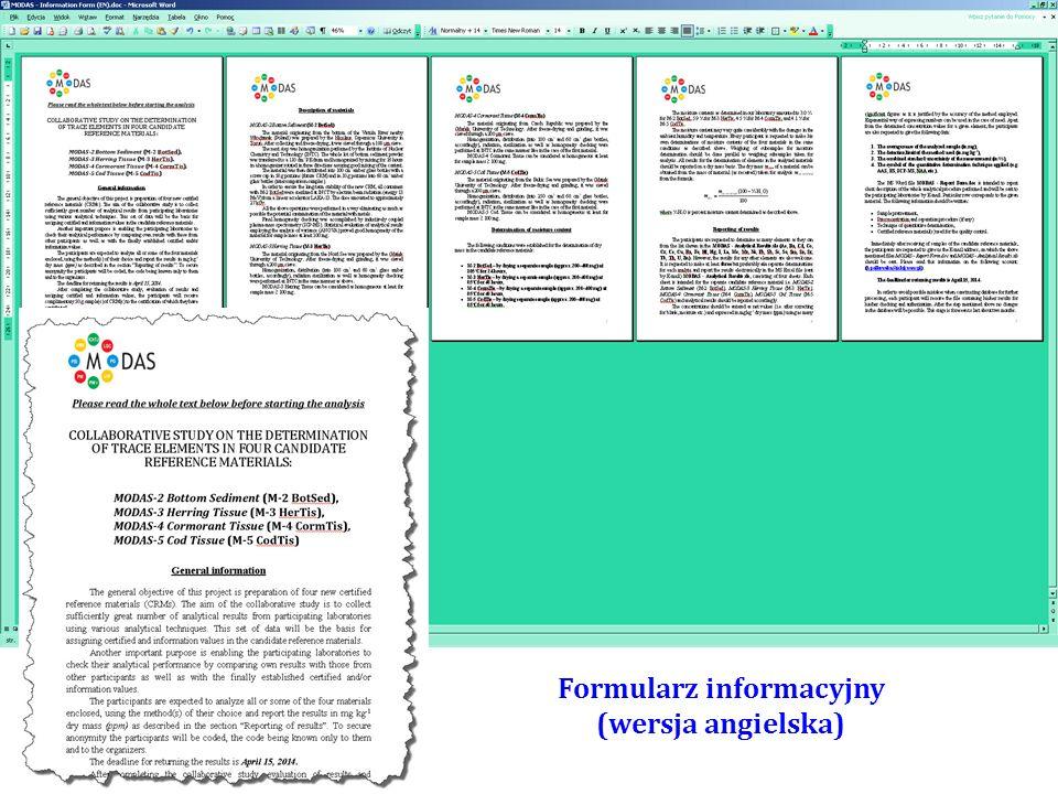 Formularz informacyjny (wersja polska)