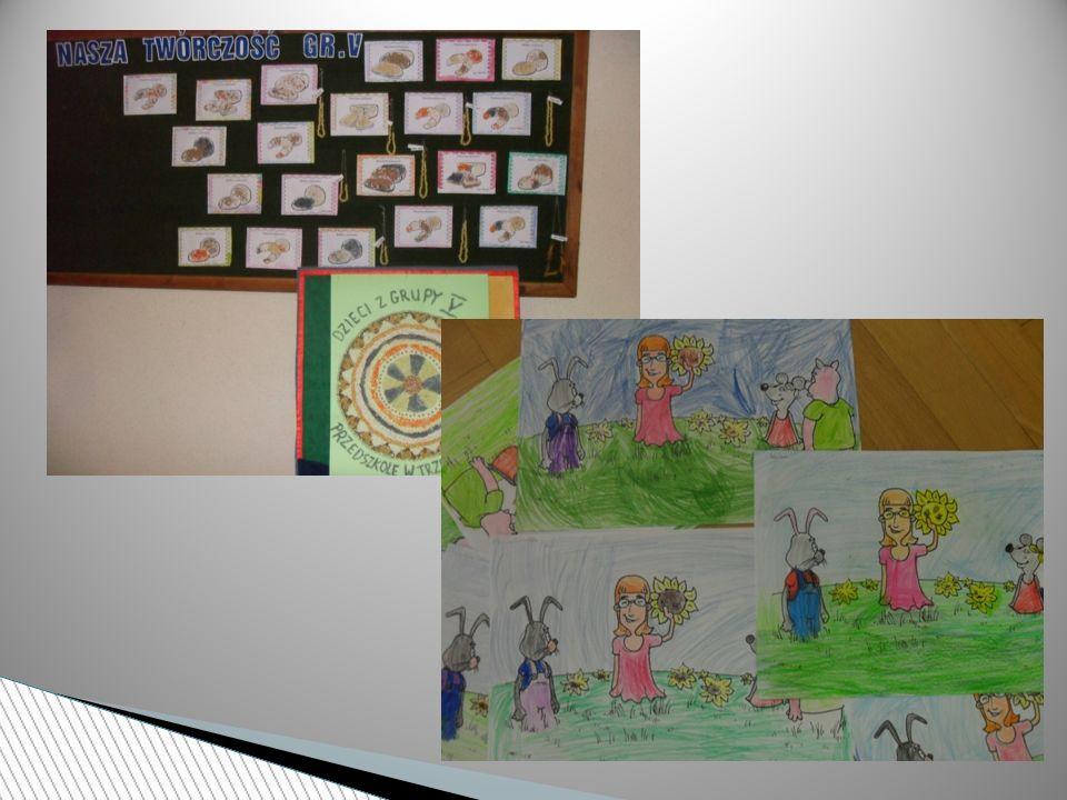 Przedszkolaki bardzo chętnie uczyły się wierszy i piosenek zamieszczonych przez organizatora w konspektach.