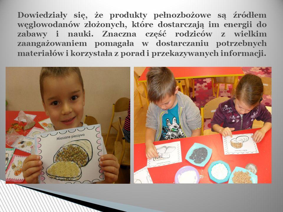 Dzieci wraz z nauczycielem wykonały na konkurs wspólną mandalę zrobioną z różnego rodzaju kolorowych kasz i makaronów.