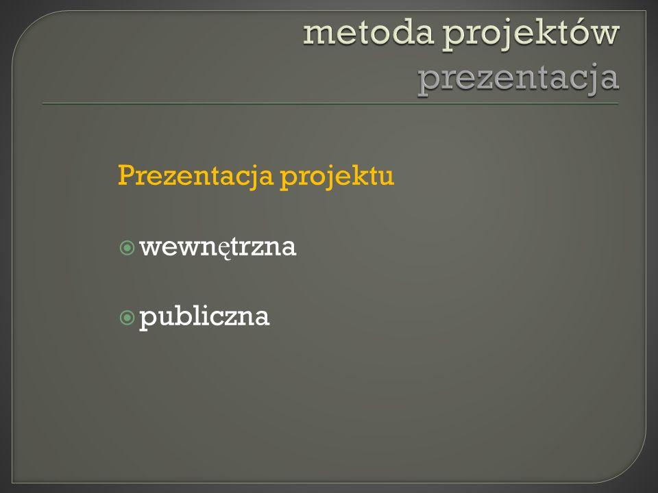 Prezentacja projektu wewn ę trzna publiczna