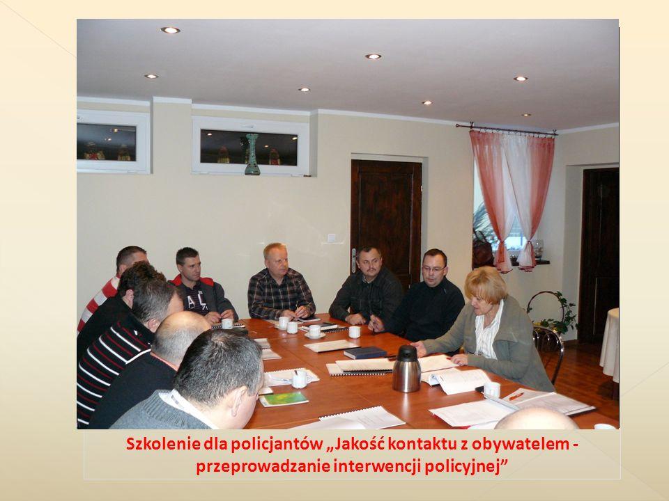 Szkolenie dla policjantów Jakość kontaktu z obywatelem - przeprowadzanie interwencji policyjnej