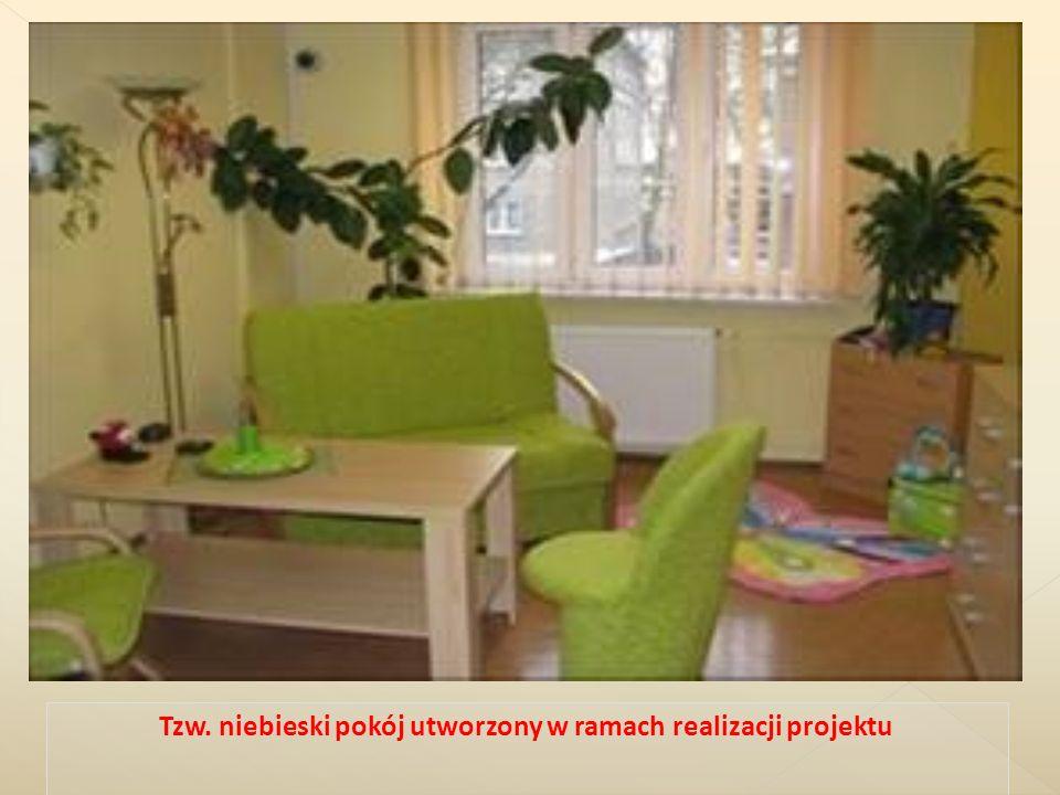 Tzw. niebieski pokój utworzony w ramach realizacji projektu