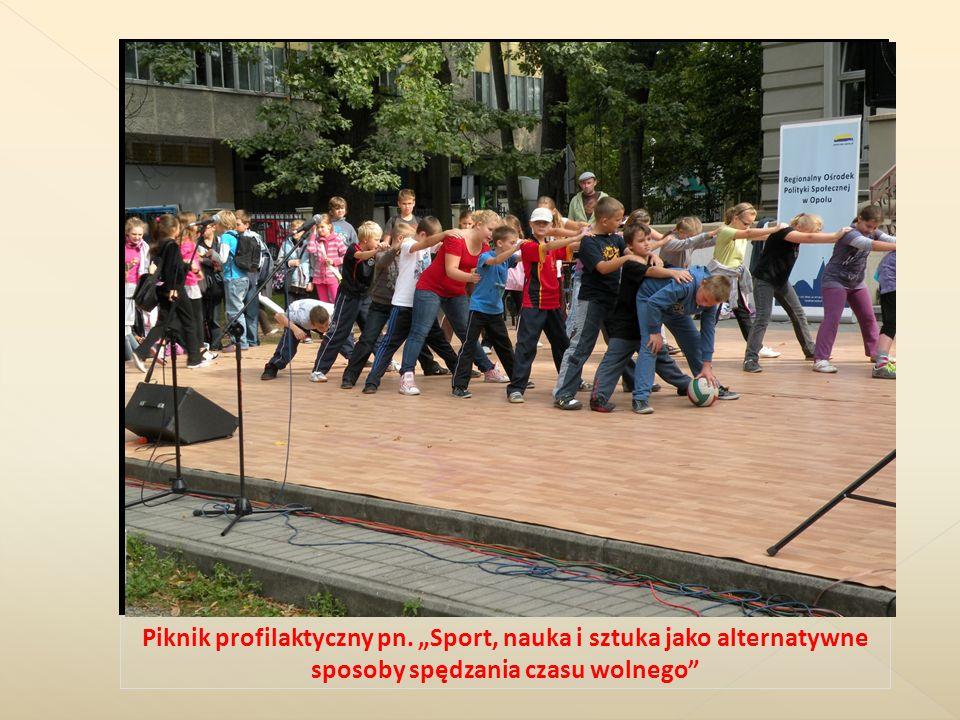 Piknik profilaktyczny pn. Sport, nauka i sztuka jako alternatywne sposoby spędzania czasu wolnego
