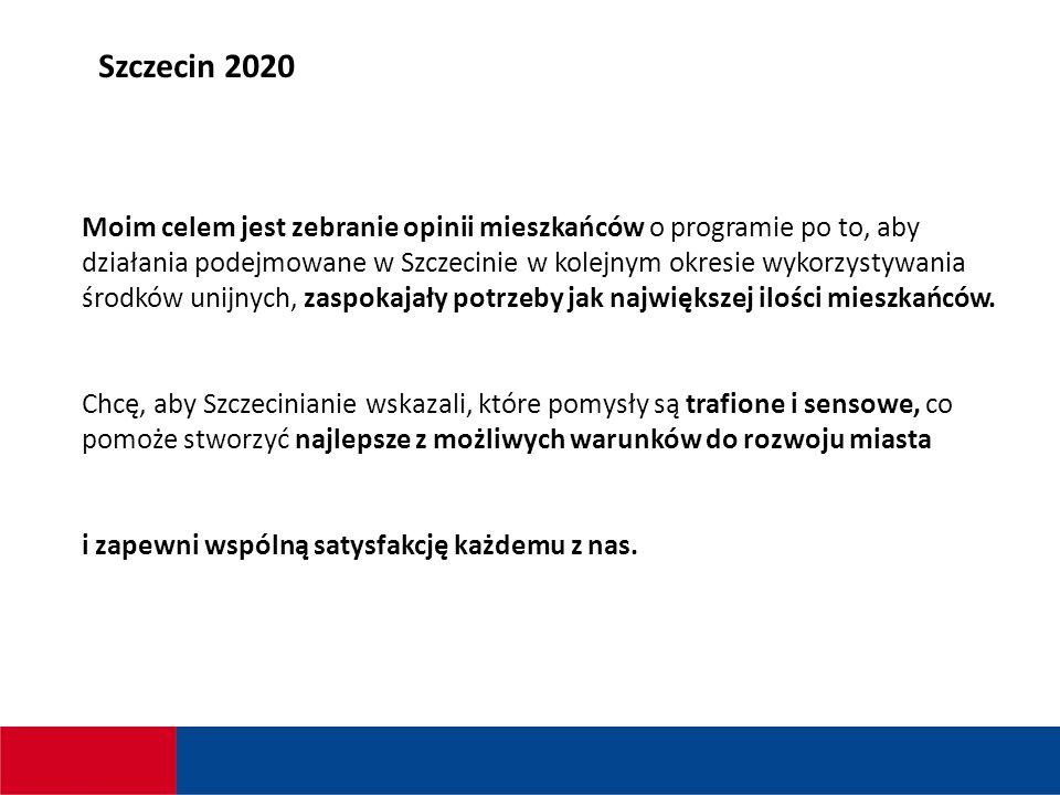 Moim celem jest zebranie opinii mieszkańców o programie po to, aby działania podejmowane w Szczecinie w kolejnym okresie wykorzystywania środków unijnych, zaspokajały potrzeby jak największej ilości mieszkańców.