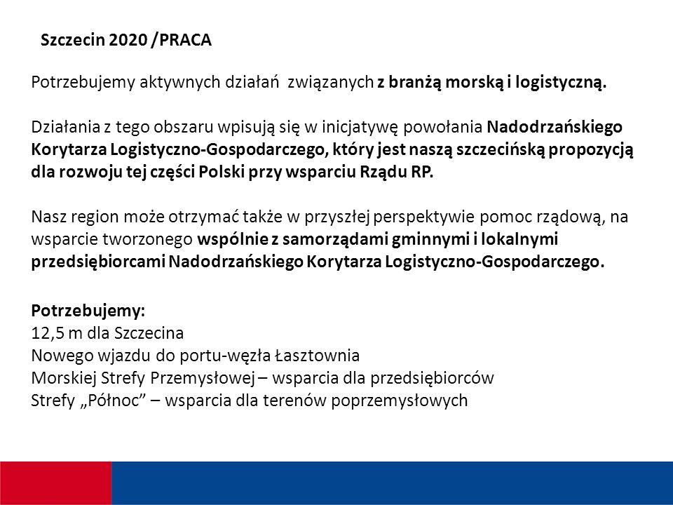 Szczecin 2020 /PRACA Potrzebujemy aktywnych działań związanych z branżą morską i logistyczną.