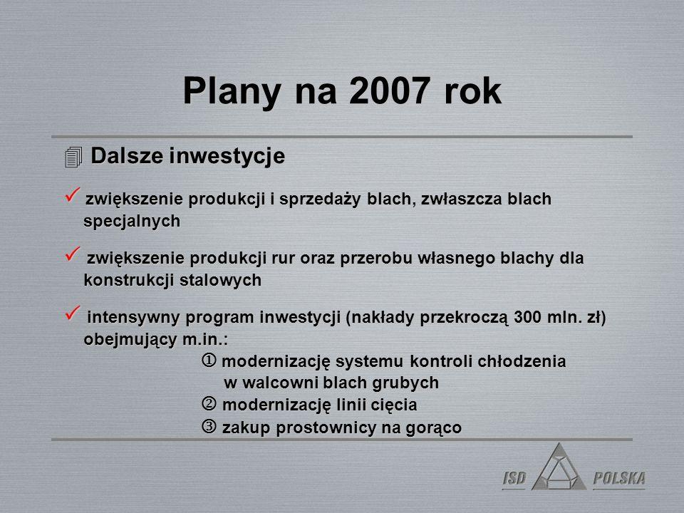 Plany na 2007 rok 4Od 1 stycznia 2007 - nowa struktura organizacyjna 4Etatyzacja 4Informatyzacja - wdrożenie systemu ORACLE Wprowadzenie nowego system