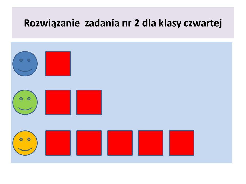 Rozwiązanie zadania numer 2 dla klasy czwartej Liczba uło ż ona przez trzeciego ucznia jest 5 razy wi ę ksza od liczby uło ż onej przez pierwszego ucznia, wi ę c cyfra w rz ę dzie jedno ś ci liczby trzeciego ucznia to 0.