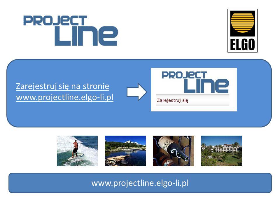 Zarejestruj się na stronie www.projectline.elgo-li.pl