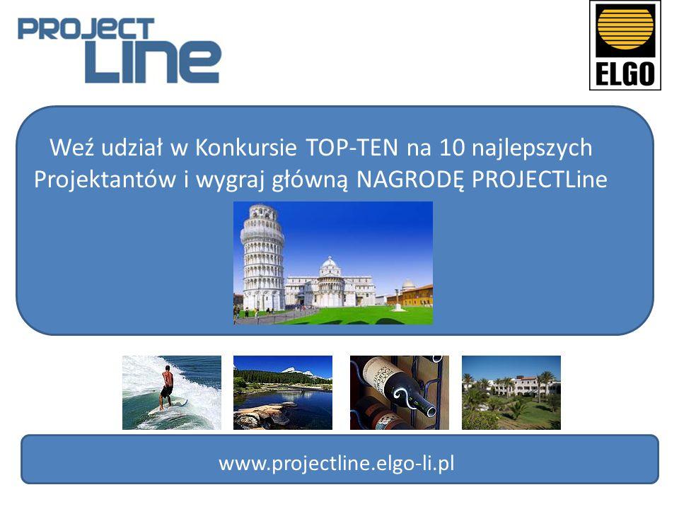 Weź udział w Konkursie TOP-TEN na 10 najlepszych Projektantów i wygraj główną NAGRODĘ PROJECTLine www.projectline.elgo-li.pl