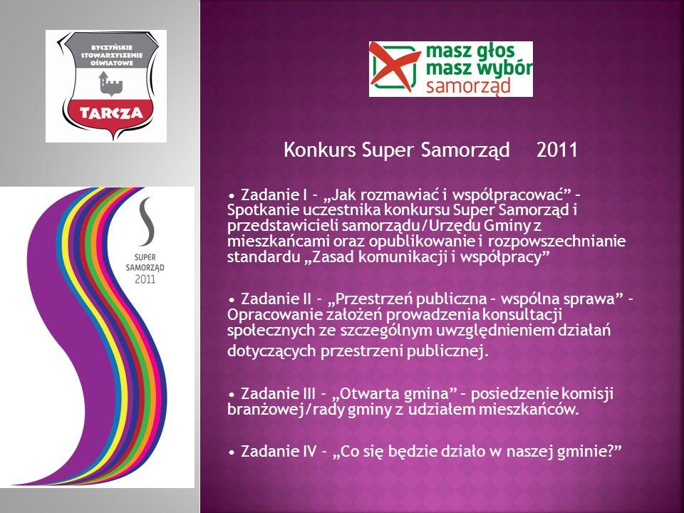 Konkurs Super Samorząd 2011 Zadanie I - Jak rozmawiać i współpracować – Spotkanie uczestnika konkursu Super Samorząd i przedstawicieli samorządu/Urzęd