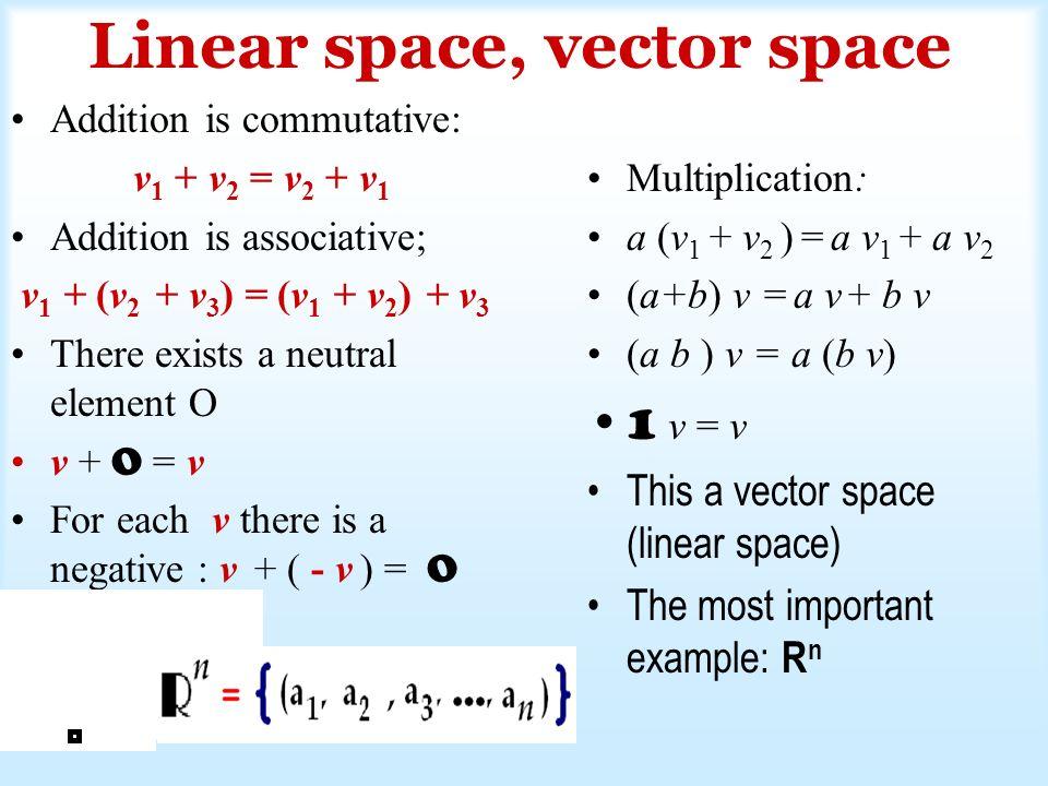 Wyznaczyć współrzędne wektora w = [1, 5, 6] w bazie v 1 = [1,2,1], v 2 = [0,1,1], v 3 = [-1,0,2] Sprawdzenie, że są bazą: wyznacznik = 1 0.