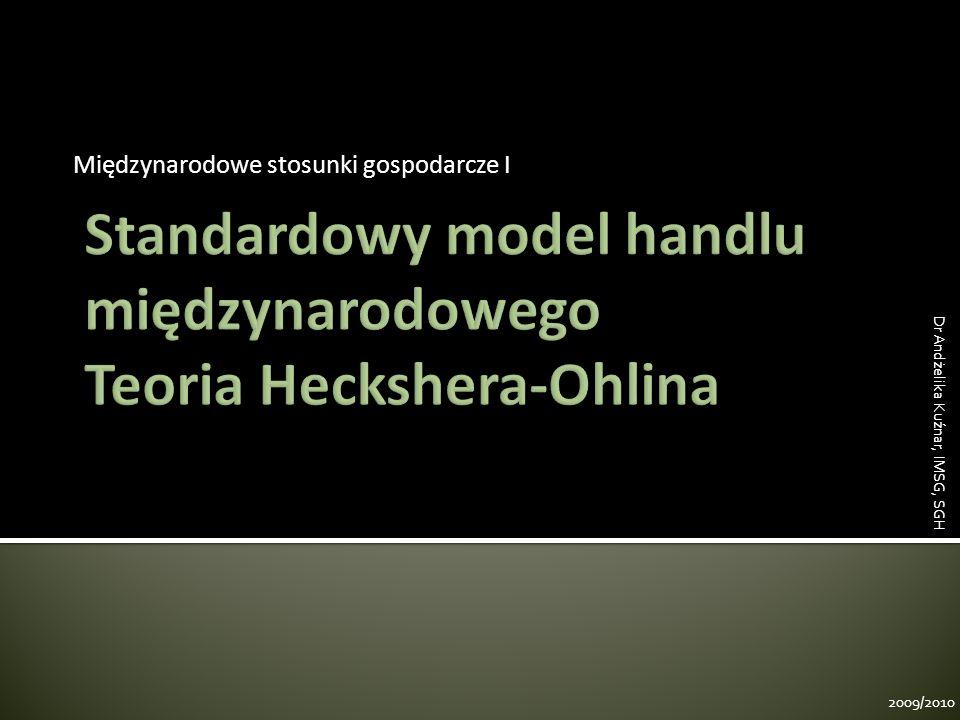 Kraj 1 Kraj 2 Kraj 1 Autarkia Handel odzież samochody 2009/2010 Dr Andżelika Kuźnar, IMSG, SGH