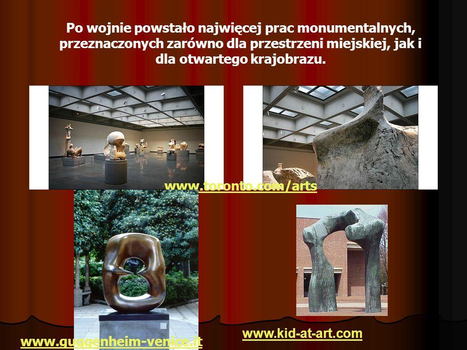 Po wojnie powstało najwięcej prac monumentalnych, przeznaczonych zarówno dla przestrzeni miejskiej, jak i dla otwartego krajobrazu. www.toronto.com/ar