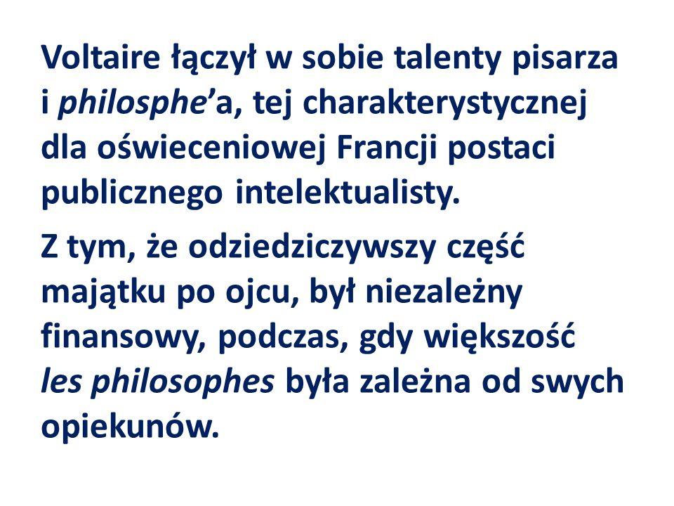 Listy o Anglikach, albo Listy filozoficzne przyniosły Voltaireowi szczególnego rodzaju rozgłos.