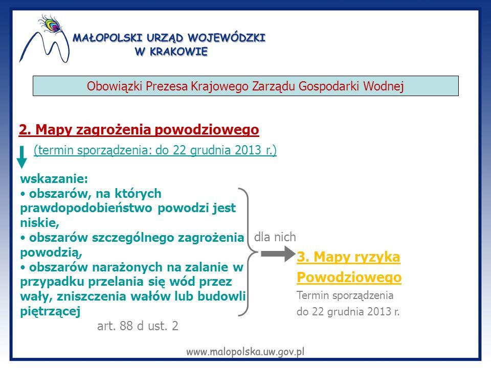 Przekazanie map zagrożenia powodziowego i map ryzyka powodziowego 1) właściwym dyrektorom urzędów żeglugi śródlądowej; 2) właściwym wojewodom; 3) właściwym marszałkom województw; 4) właściwym starostom; 5) właściwym wójtom (burmistrzom, prezydentom miast); 6) właściwym komendantom wojewódzkim i powiatowym (miejskim) Państwowej Straży Pożarnej.