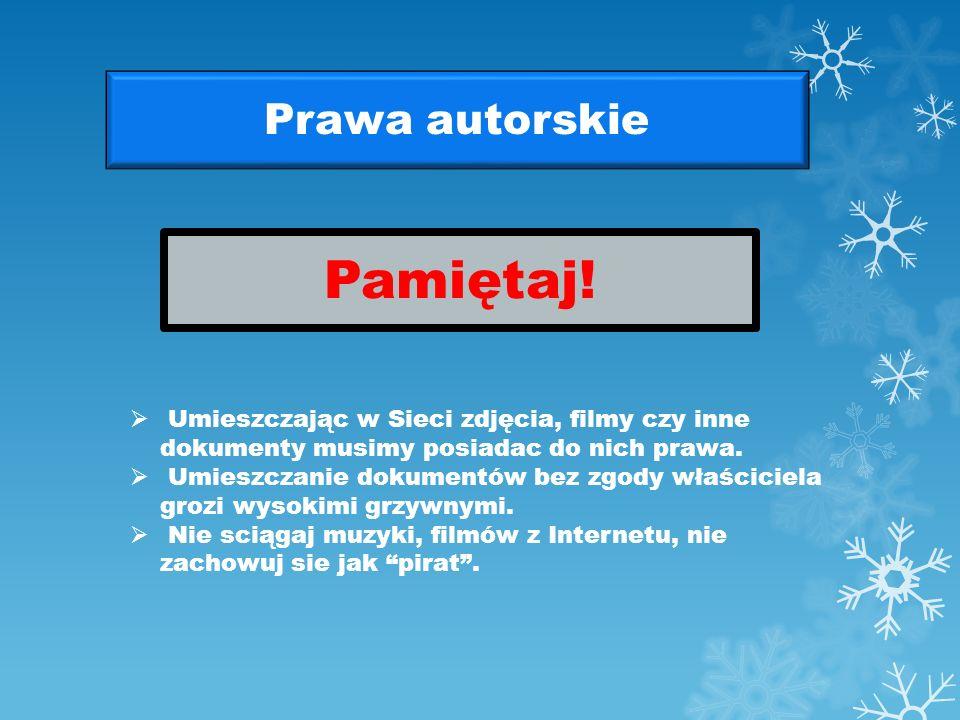 Poczta elektroniczna Dla poczty elektronicznej i list dyskusyjnych obowiązuje: Zakaz spamowania (wysyłania e-mail z niechcianymi informacjami, reklama