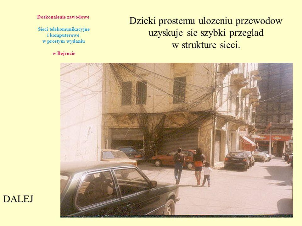 Doskonalenie zawodowe Sieci telekomunikacyjne i komputerowe w prostym wydaniu w Bejrucie Dzieki prostemu ulozeniu przewodow uzyskuje sie szybki przegl
