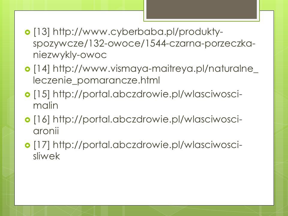 [13] http://www.cyberbaba.pl/produkty- spozywcze/132-owoce/1544-czarna-porzeczka- niezwykly-owoc [14] http://www.vismaya-maitreya.pl/naturalne_ leczen