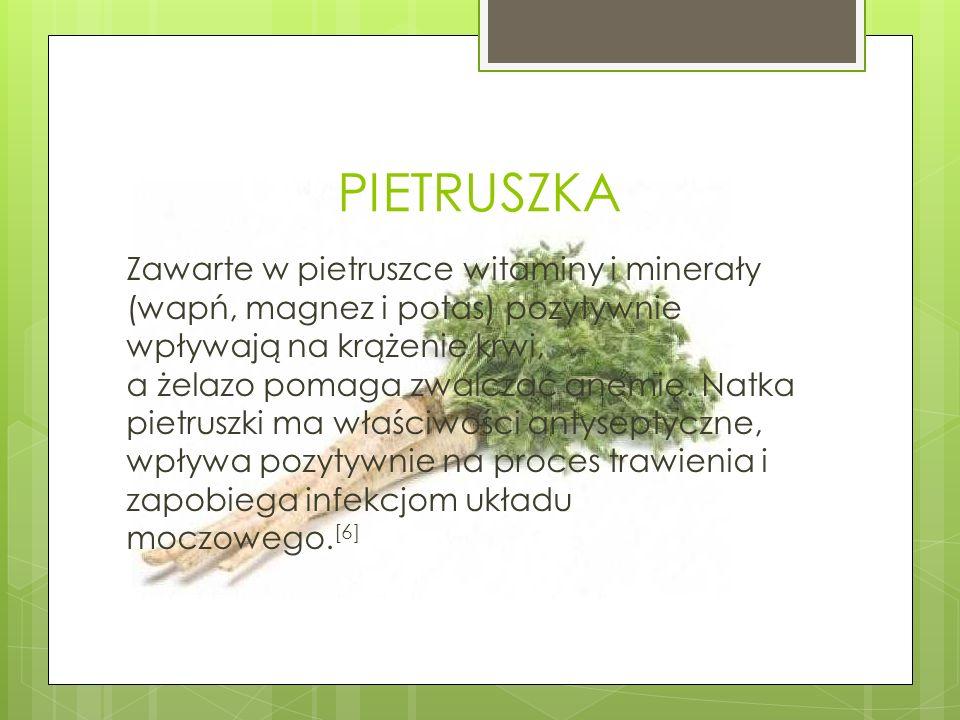 RZODKIEWKA Rzodkiewka jest bogatym źródłem potasu, fosforu, wapnia, żelaza i manganu.