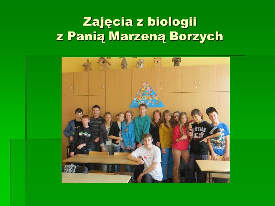 Zajęcia z biologii z Panią Marzeną Borzych