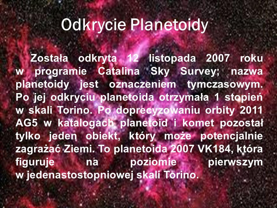 Odkrycie Planetoidy Została odkryta 12 listopada 2007 roku w programie Catalina Sky Survey; nazwa planetoidy jest oznaczeniem tymczasowym. Po jej odkr