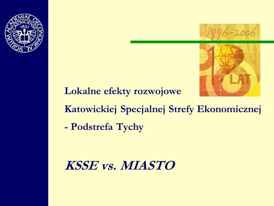Lokalne efekty rozwojowe Katowickiej Specjalnej Strefy Ekonomicznej - Podstrefa Tychy KSSE vs. MIASTO