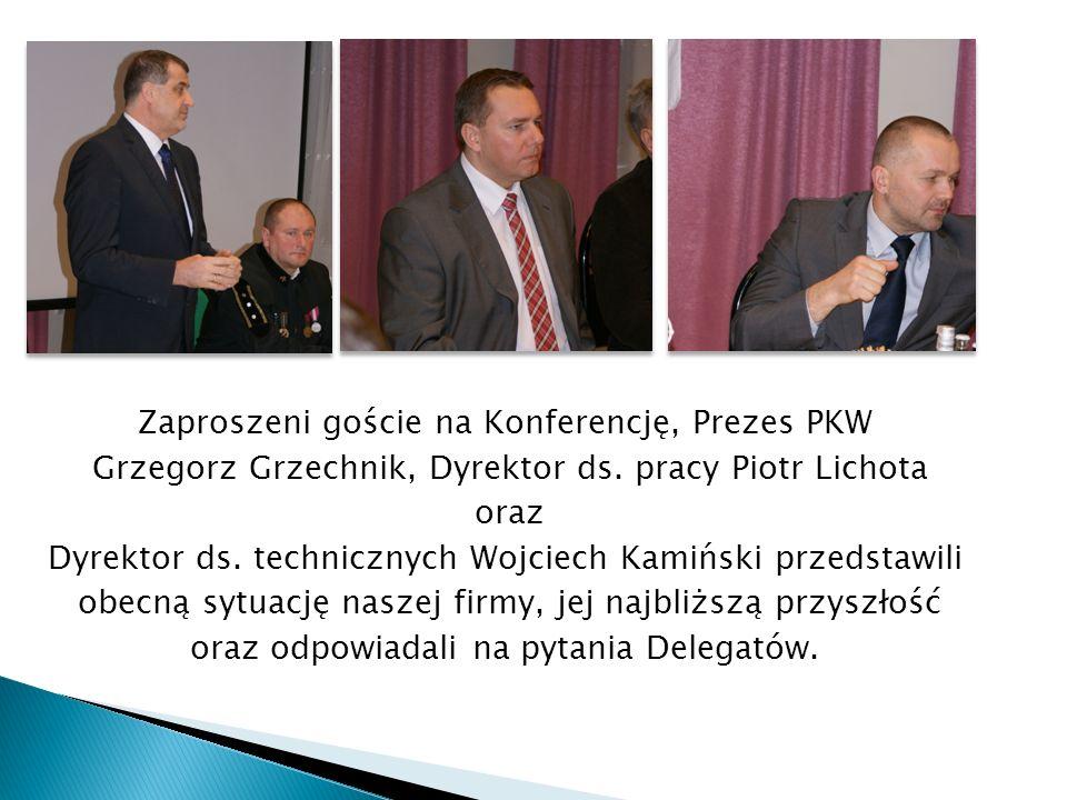Zaproszeni goście na Konferencję, Prezes PKW Grzegorz Grzechnik, Dyrektor ds. pracy Piotr Lichota oraz Dyrektor ds. technicznych Wojciech Kamiński prz