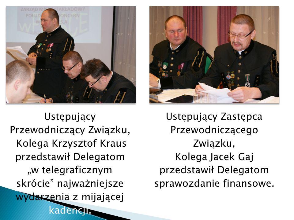 Ustępujący Przewodniczący Związku, Kolega Krzysztof Kraus przedstawił Delegatom w telegraficznym skrócie najważniejsze wydarzenia z mijającej kadencji