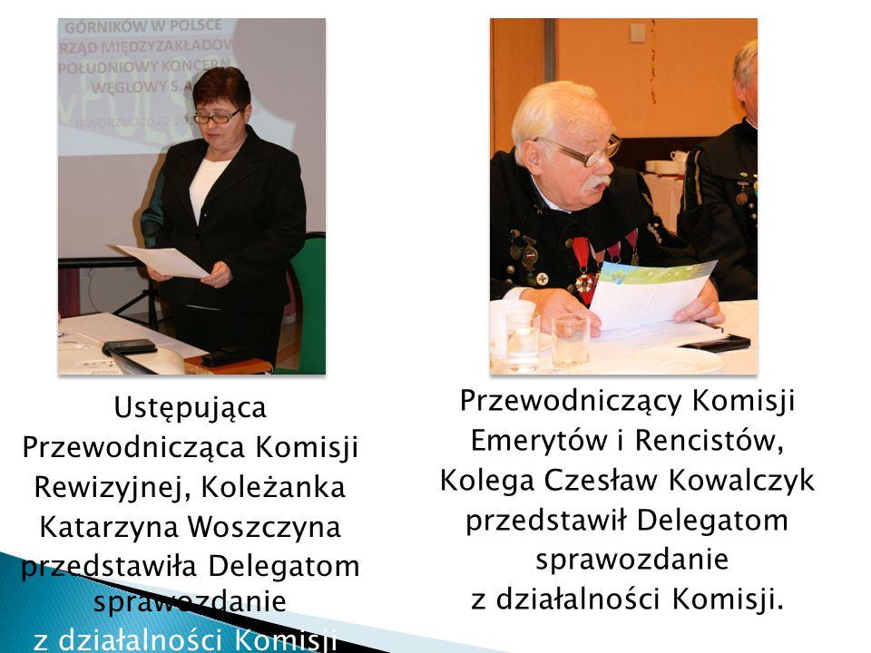Ustępująca Przewodnicząca Komisji Rewizyjnej, Koleżanka Katarzyna Woszczyna przedstawiła Delegatom sprawozdanie z działalności Komisji. Przewodniczący