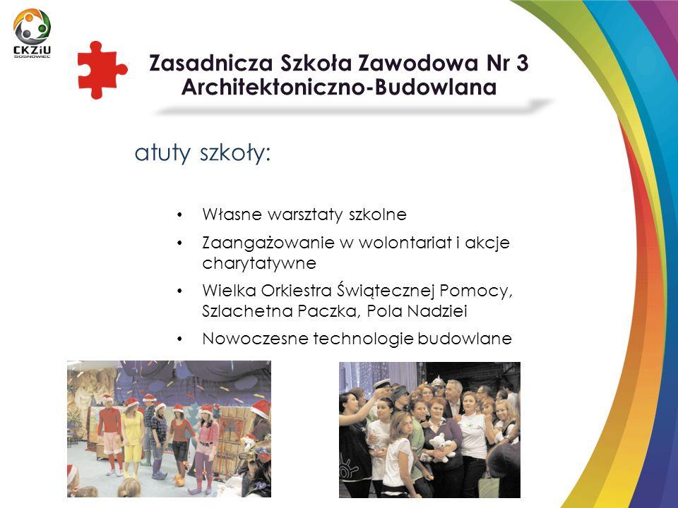 atuty szkoły: Własne warsztaty szkolne Zaangażowanie w wolontariat i akcje charytatywne Wielka Orkiestra Świątecznej Pomocy, Szlachetna Paczka, Pola N