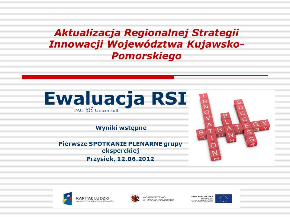 Zakres ewaluacji – informacje wprowadzające 2 Przedmiot ewaluacji RSI WK-P (2005), przyjęta uchwałą SWK-P Nr XLI/587/05 w grudniu 2005 r.