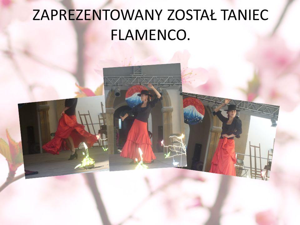 ZAPREZENTOWANY ZOSTAŁ TANIEC FLAMENCO.