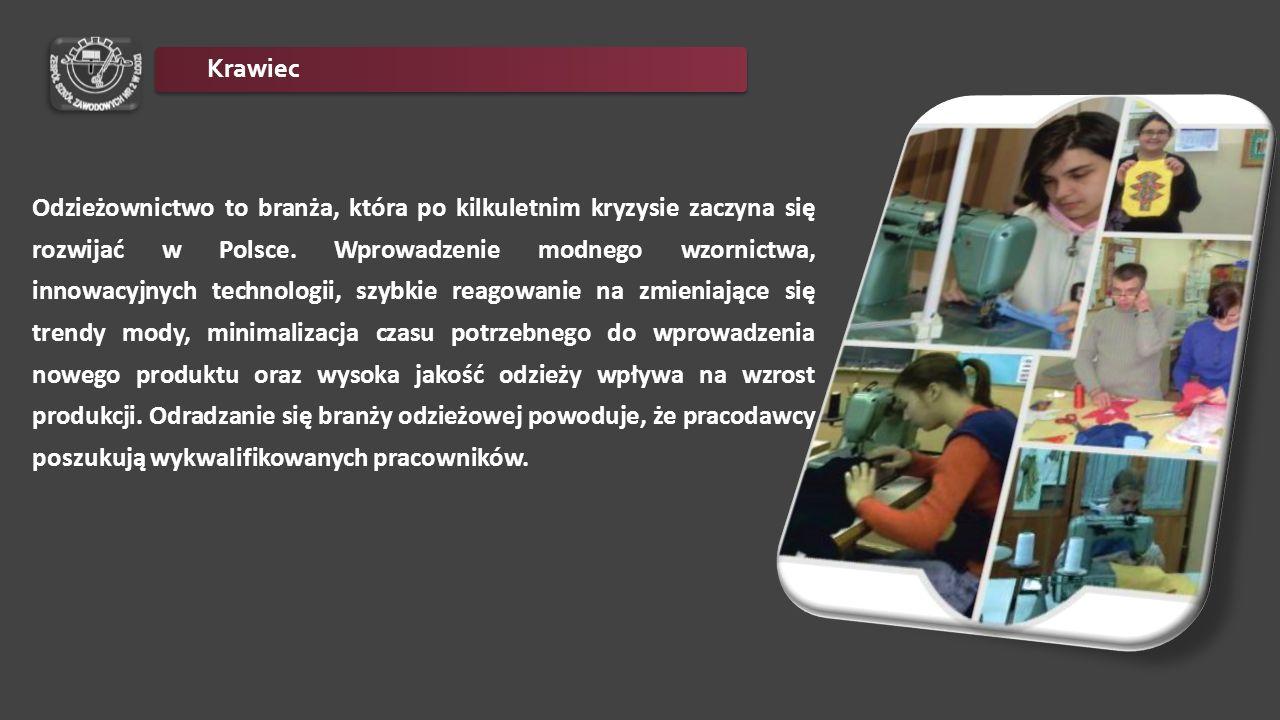 Odzieżownictwo to branża, która po kilkuletnim kryzysie zaczyna się rozwijać w Polsce. Wprowadzenie modnego wzornictwa, innowacyjnych technologii, szy