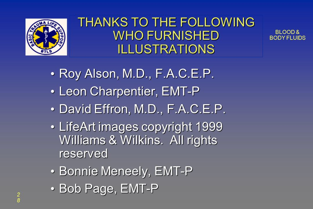 2828 THANKS TO THE FOLLOWING WHO FURNISHED ILLUSTRATIONS Roy Alson, M.D., F.A.C.E.P.