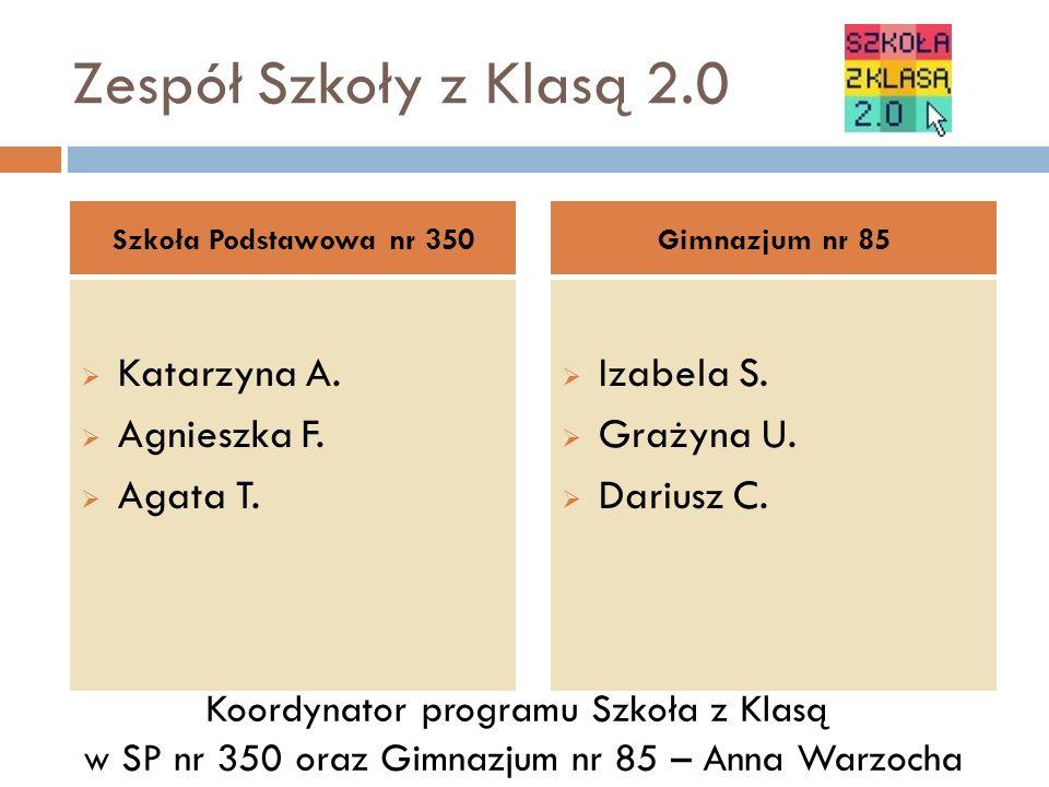Zespół Szkoły z Klasą 2.0 Katarzyna A. Agnieszka F.
