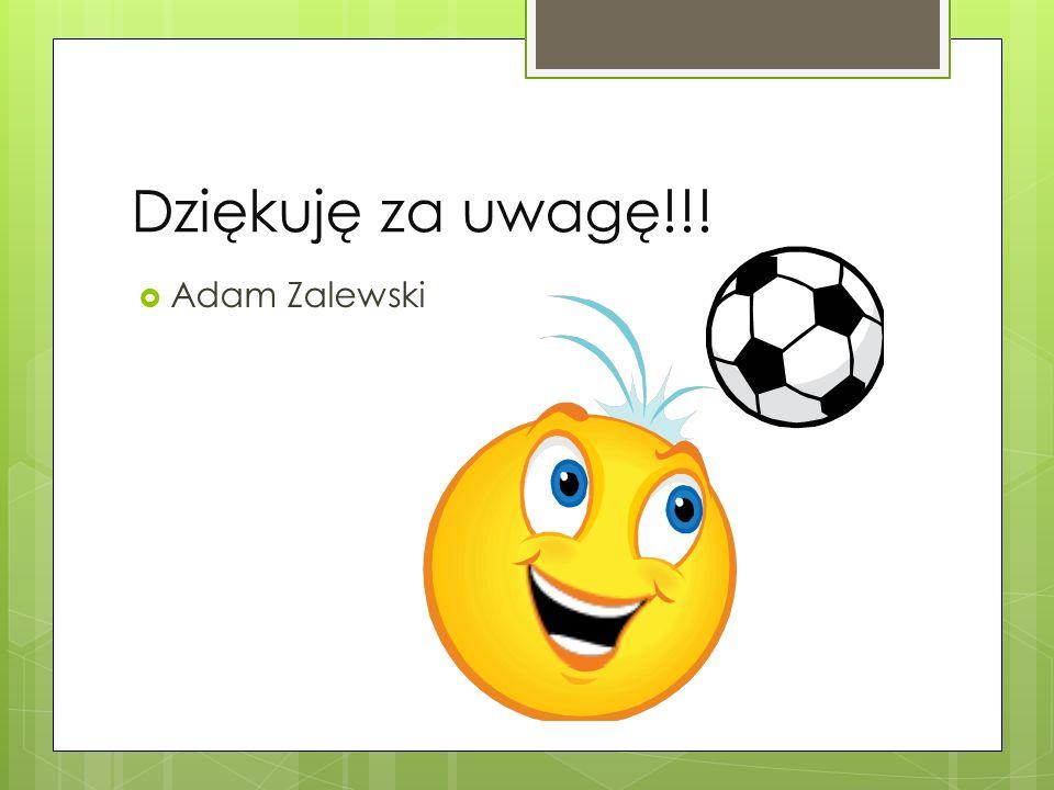 Dziękuję za uwagę!!! Adam Zalewski