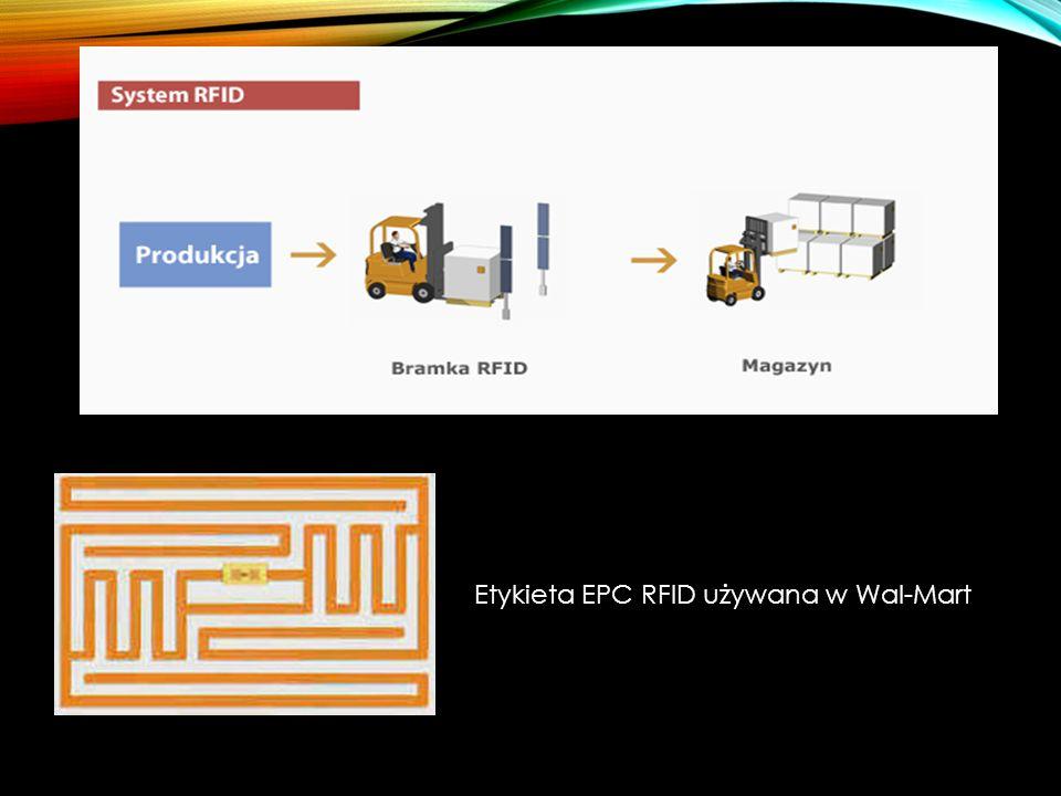 Etykieta EPC RFID używana w Wal-Mart