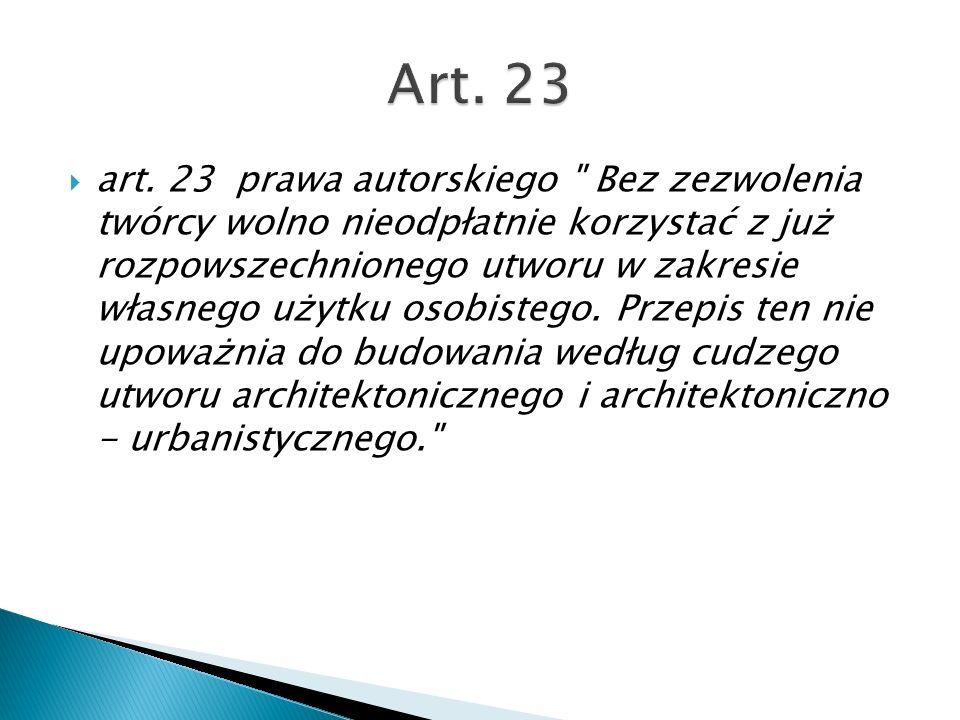 art. 23 prawa autorskiego