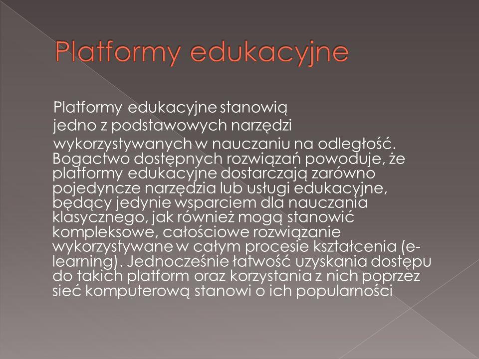 Platformy edukacyjne stanowią jedno z podstawowych narzędzi wykorzystywanych w nauczaniu na odległość.