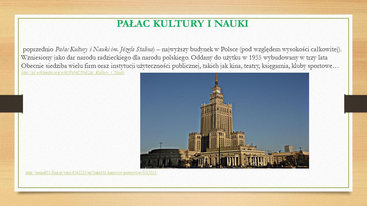 http://tomis921.flog.pl/wpis/6242255/en71aks101-katowice-piotrowice-5012013/ PAŁAC KULTURY I NAUKI poprzednio Pałac Kultury i Nauki im. Józefa Stalina