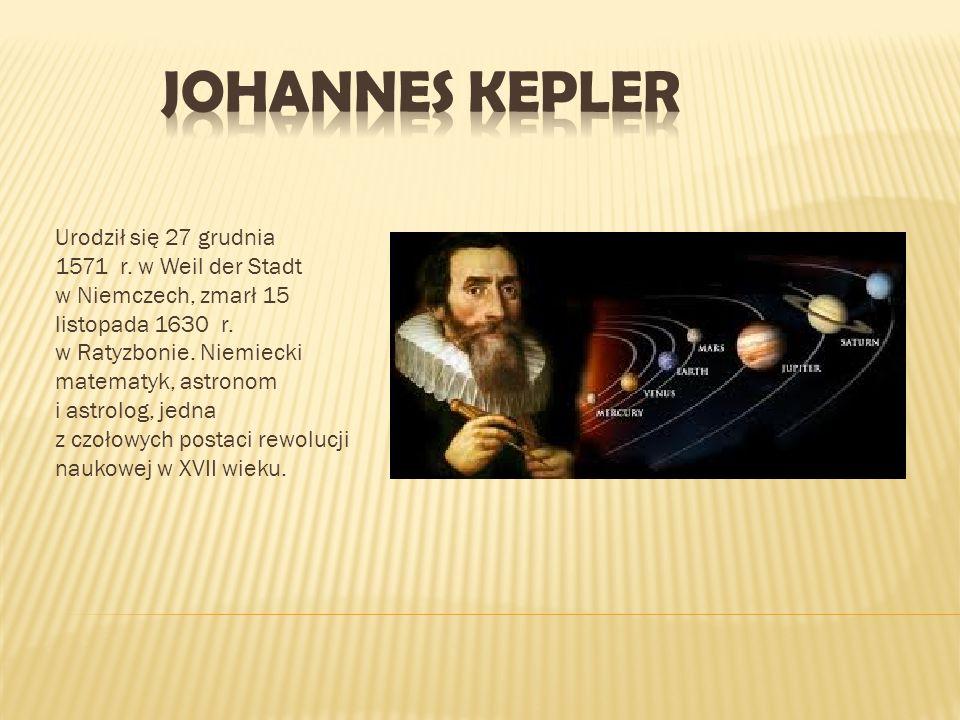 Urodził się 27 grudnia 1571 r. w Weil der Stadt w Niemczech, zmarł 15 listopada 1630 r. w Ratyzbonie. Niemiecki matematyk, astronom i astrolog, jedna