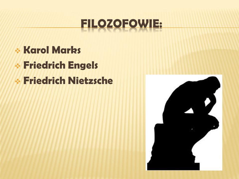 Karol Marks Friedrich Engels Friedrich Nietzsche