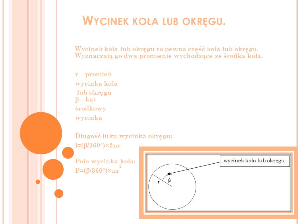 Okrąg opisany na wielokącie to okrąg, który pochodzi przez wszystkie wierzchołki tego wielokąta.
