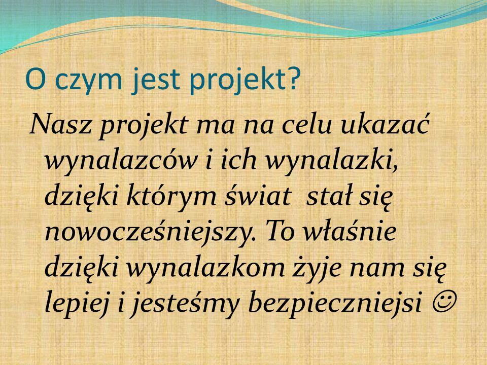 O czym jest projekt.