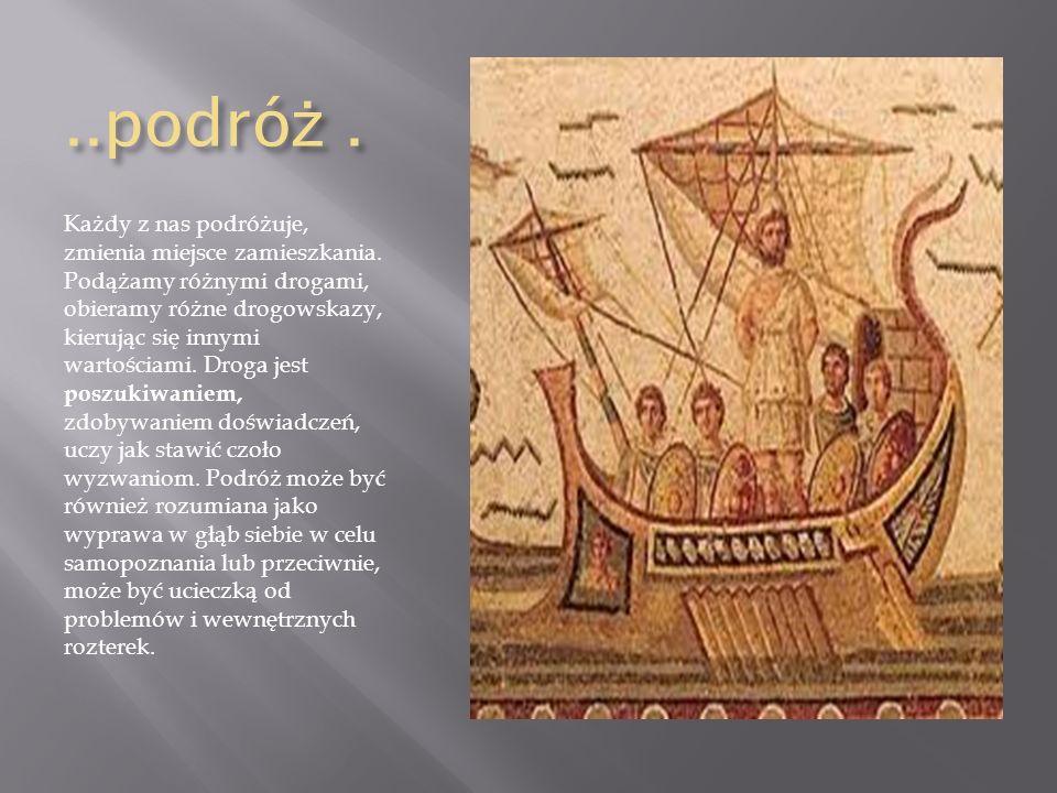 Motyw podró ż y w literaturze.MITOLOGIA - zawiera wiele opisów podróży bogów, herosów i ludzi.