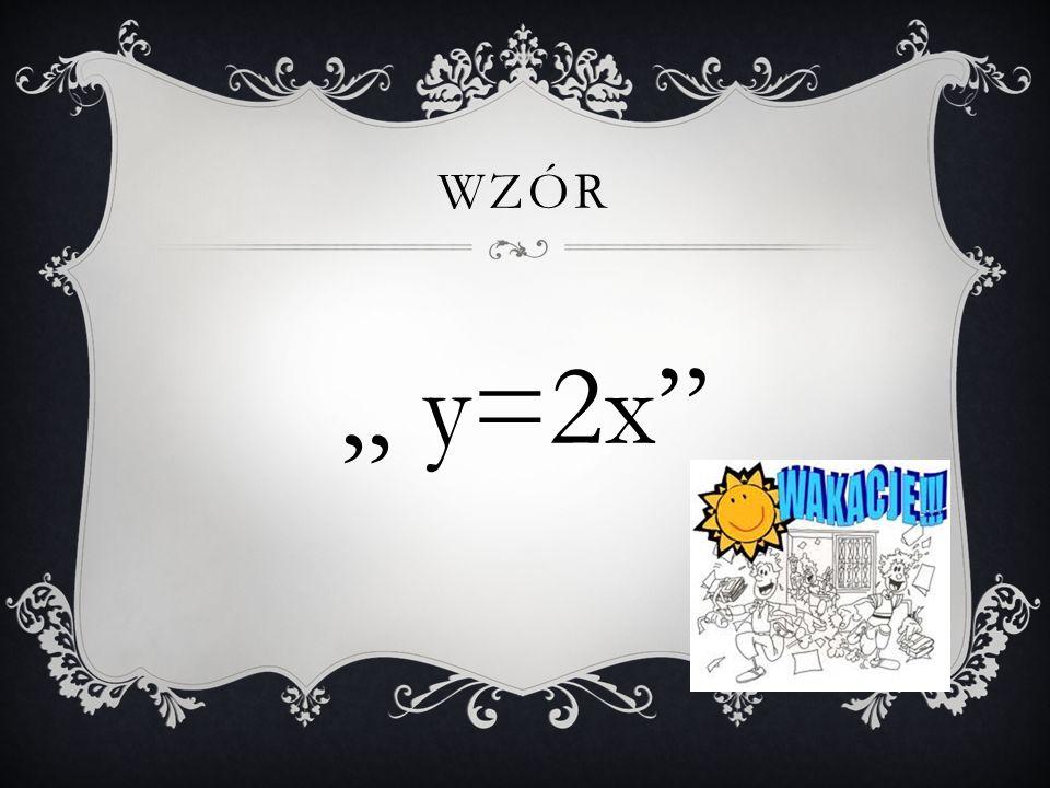 OPIS SŁOWNY Każdej liczbie ze wzoru A przyporządkowano liczbę 2 razy mniejszą
