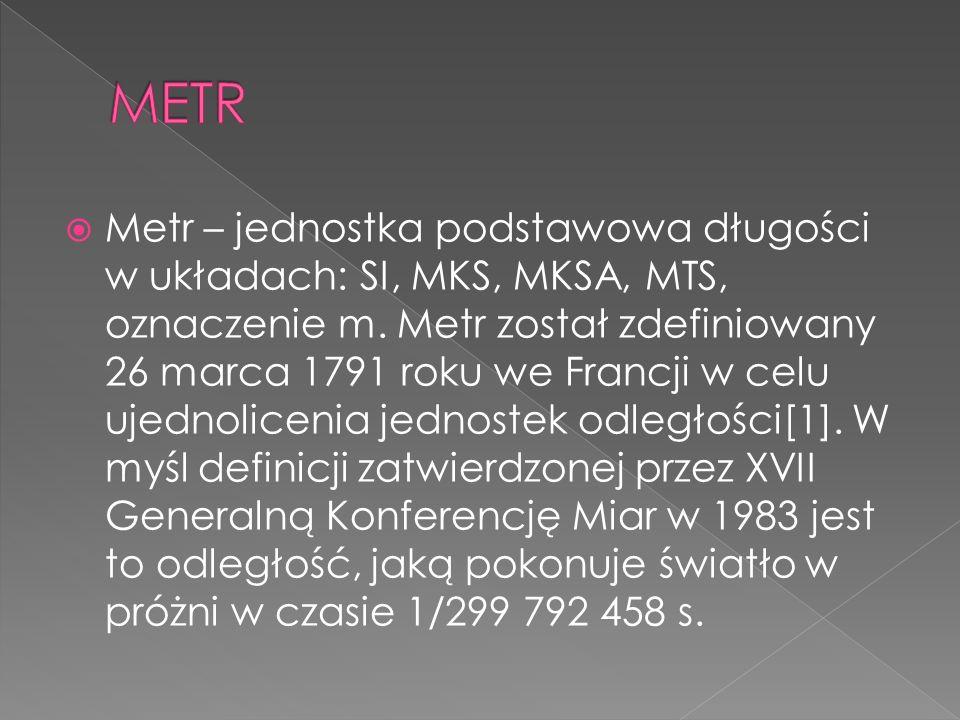 Centymetr (symbol: cm) – jednostka długości, podwielokrotność metra, równa 102 m, czyli 1/100 m. Składa się z 10 milimetrów. Centymetr jest jednostką